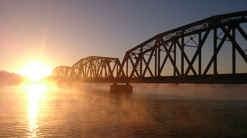 DNB Tensaw River Bridge at Sunrise 10-5-14