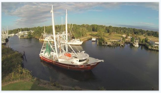Bayou Shrimp boat. South Mobile County