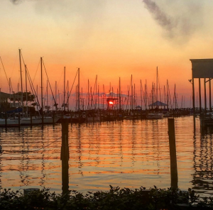 Sunset Pointe at Fly Creek Marina in Fairhope is one of the best spots to gather for sunset. The views are only matched by the food and drink. Photo: Instagram/sunset_pointe.
